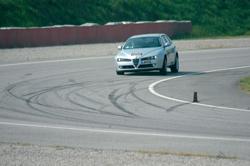 Test in pista con Alfa