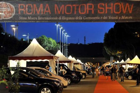 Roma Motor Show by night