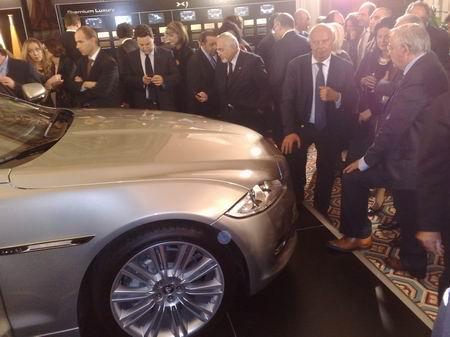 Invitati e vip alla presentazione della nuova Jaguar XJ