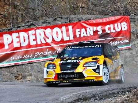 Pedersoli al Rally del Ciocco sulla sua Ford Focus WRC