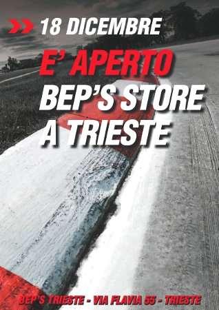 Locandina nuovo store Bep's a Trieste