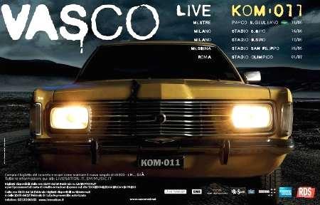 Locandina del tour di Vasco Live Kom 011 con Ford Taunus TC1