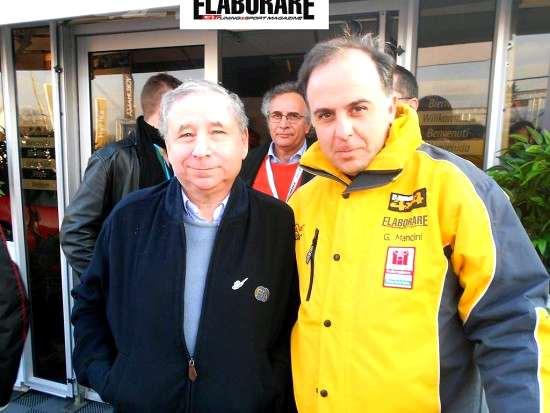 Jean Todt con Giovanni Mancini