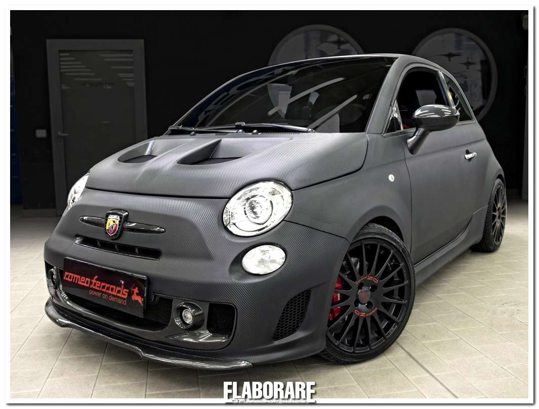 Photo of L'Abarth 500 by Romeo Ferraris si veste di carbonio