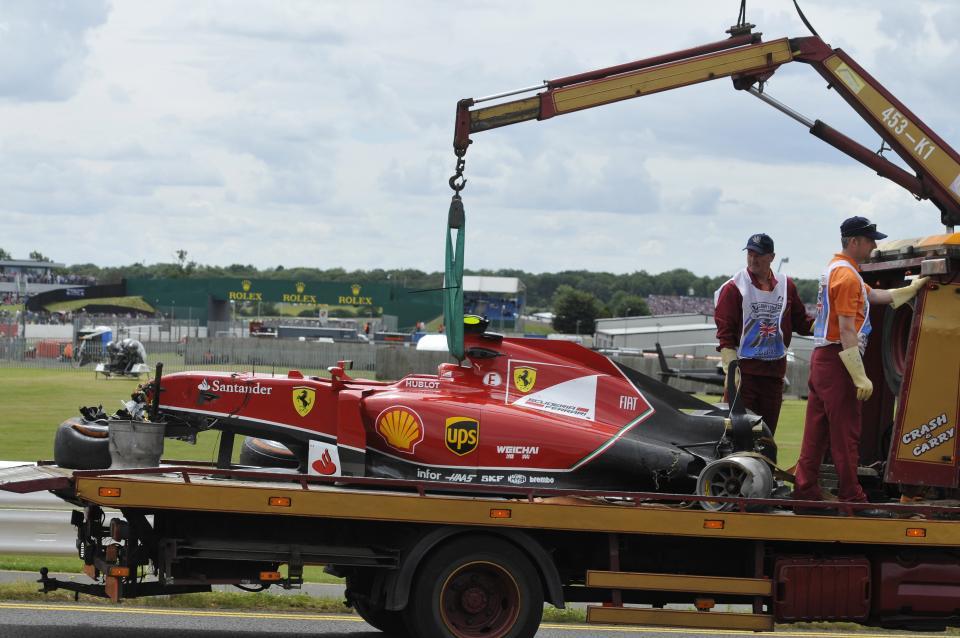 Photo of Pauroso incidente Raikkonen Silverstone [video]