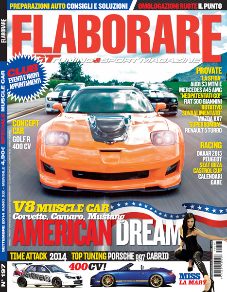 Photo of Cover Story V8 Muscle Car americane su Elaborare 197 Settembre 2014 in edicola