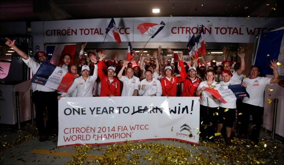 Photo of Citroen campione del mondo WTCC 2014