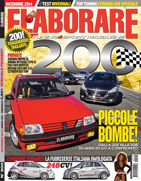 Photo of Cover Story Peugeot Serie 200 Elaborare Dicembre 2014 in edicola