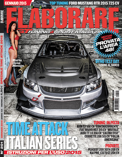 Photo of Elaborare Gennaio 2015 in edicola Time Attack 2015