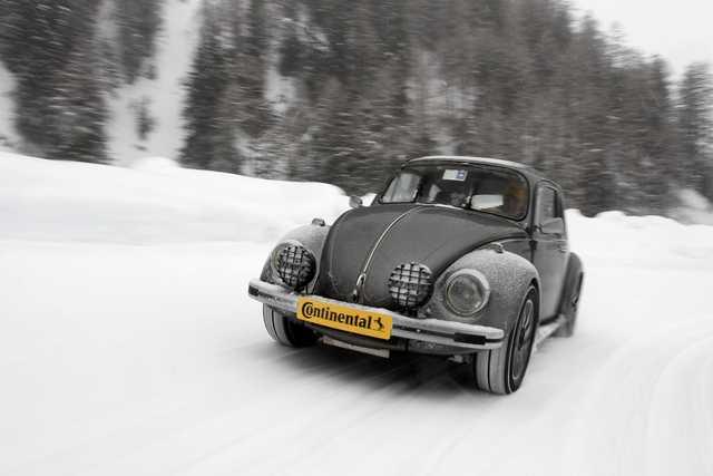 test pneumatici invernali su VW Maggolino