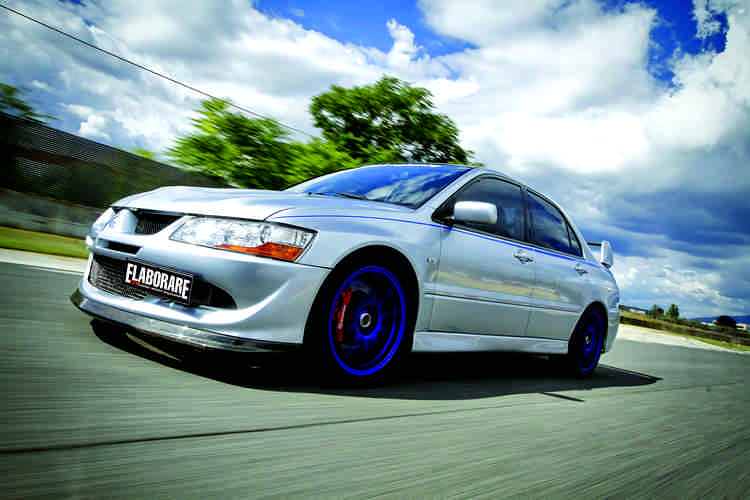 Photo of Mitsubishi Lancer Evo VIII test in pista Isam
