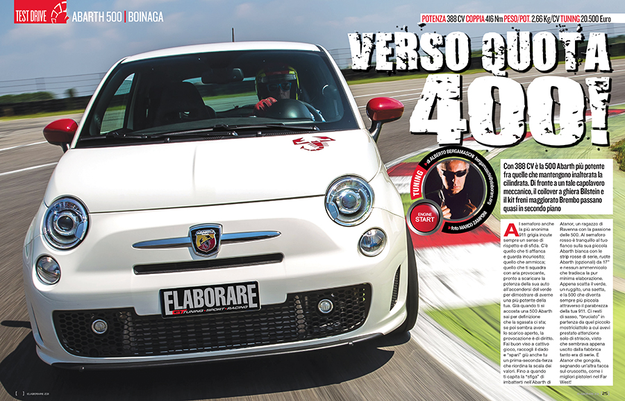 Abarth 500 preparazione Serial Tuning 388 cv Abarth 500 tuning