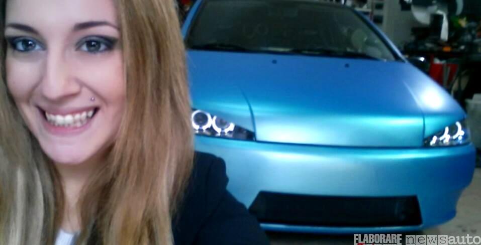 Giulia Yumi Elaborare ottobre 2017 e la sua Fiat Punto