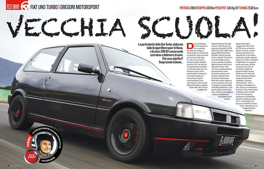 Fiat Uno Turbo elaborata con preparazione Gregori Motorsport