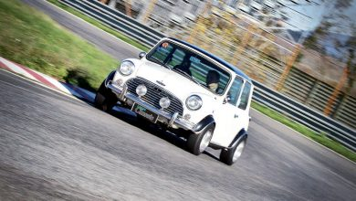 Photo of A112 Abarth 70 HP e Mini Cooper 1300 elaborate auto storiche test in pista
