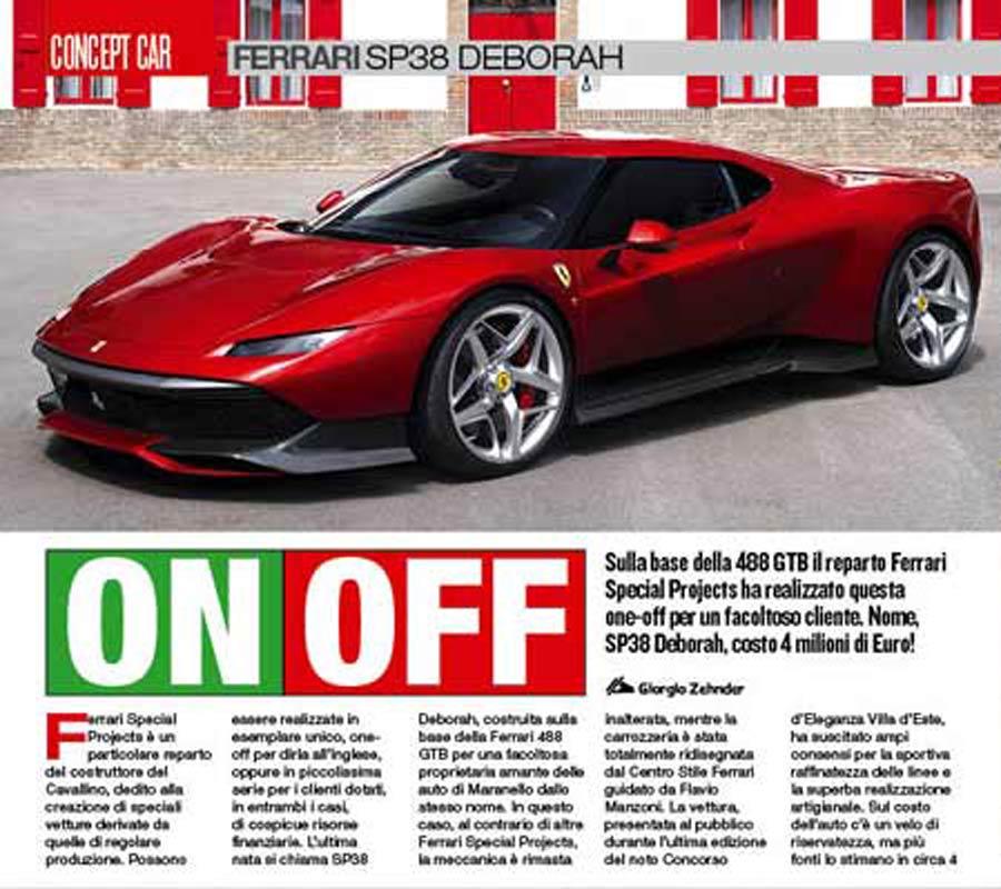 Ferrari SP38 Deborah elaborazione concept car
