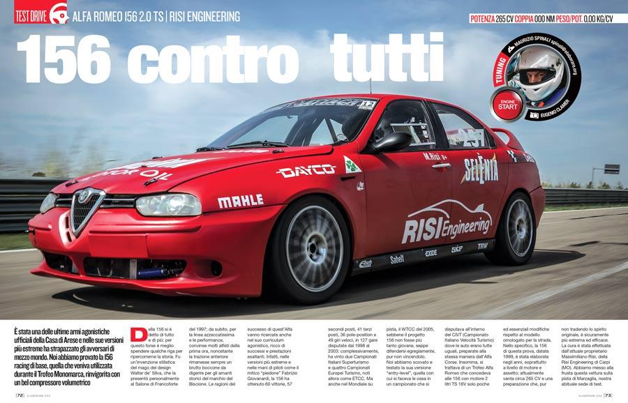 Motore Alfa Romeo 156 2.0 TS elaborata con preparazione Risi Engineering