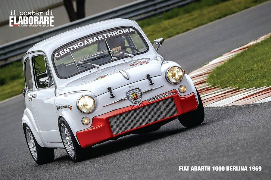 Fiat Abarth 1000 Berlina 1969 Poster-Elaborare-246