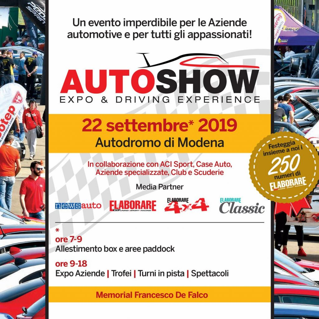 Elaborare AutoShow all'Autodromo di Modena