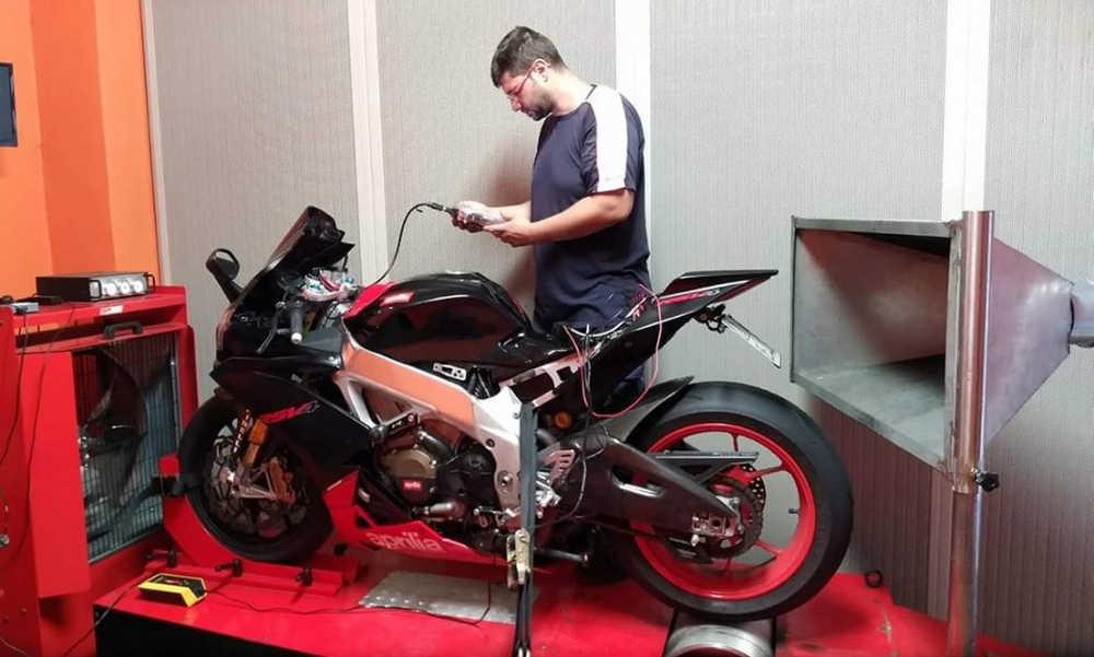 MT Racing banco prova per moto