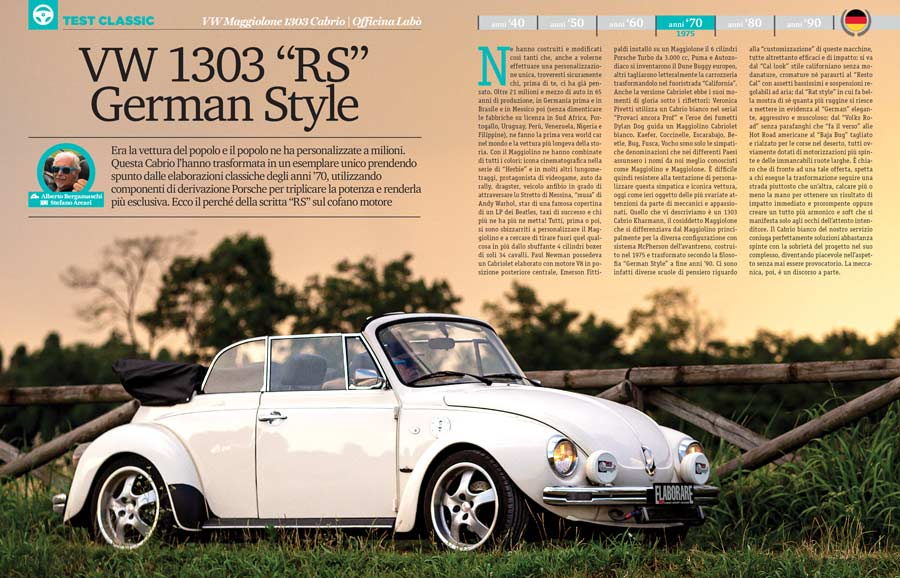 VW Maggiolone 1303 Cabrio  auto storica
