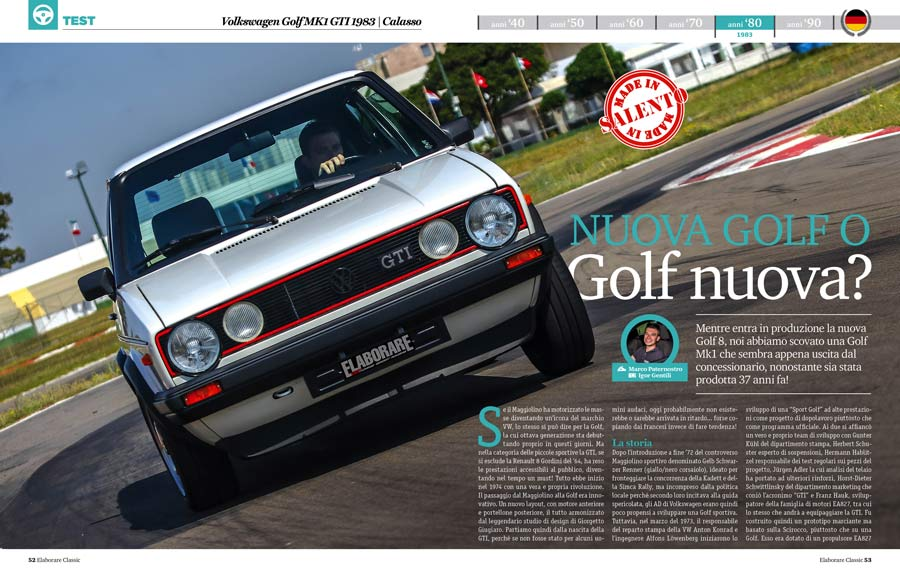 Volkswagen Golf MK1 GTI auto sportiva storica elaborata - Elaborare 257