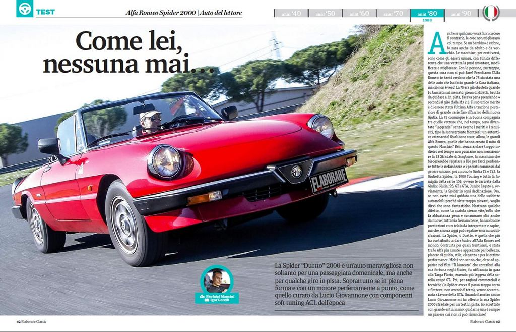 Alfa Romeo Duetto Classic Elaborare 259